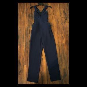 BCBG Navy Blue Dressy Romper